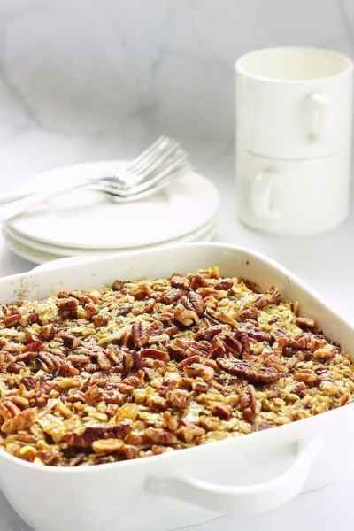 Carrot Cake Baked Oatmeal |Craving Something Healthy