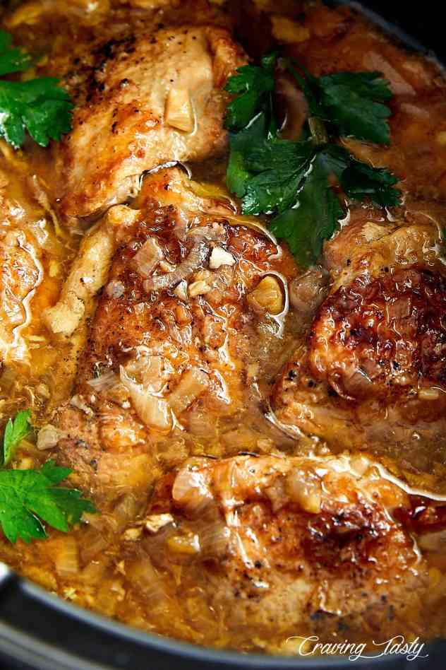 Rustic slow cooker chicken recipe