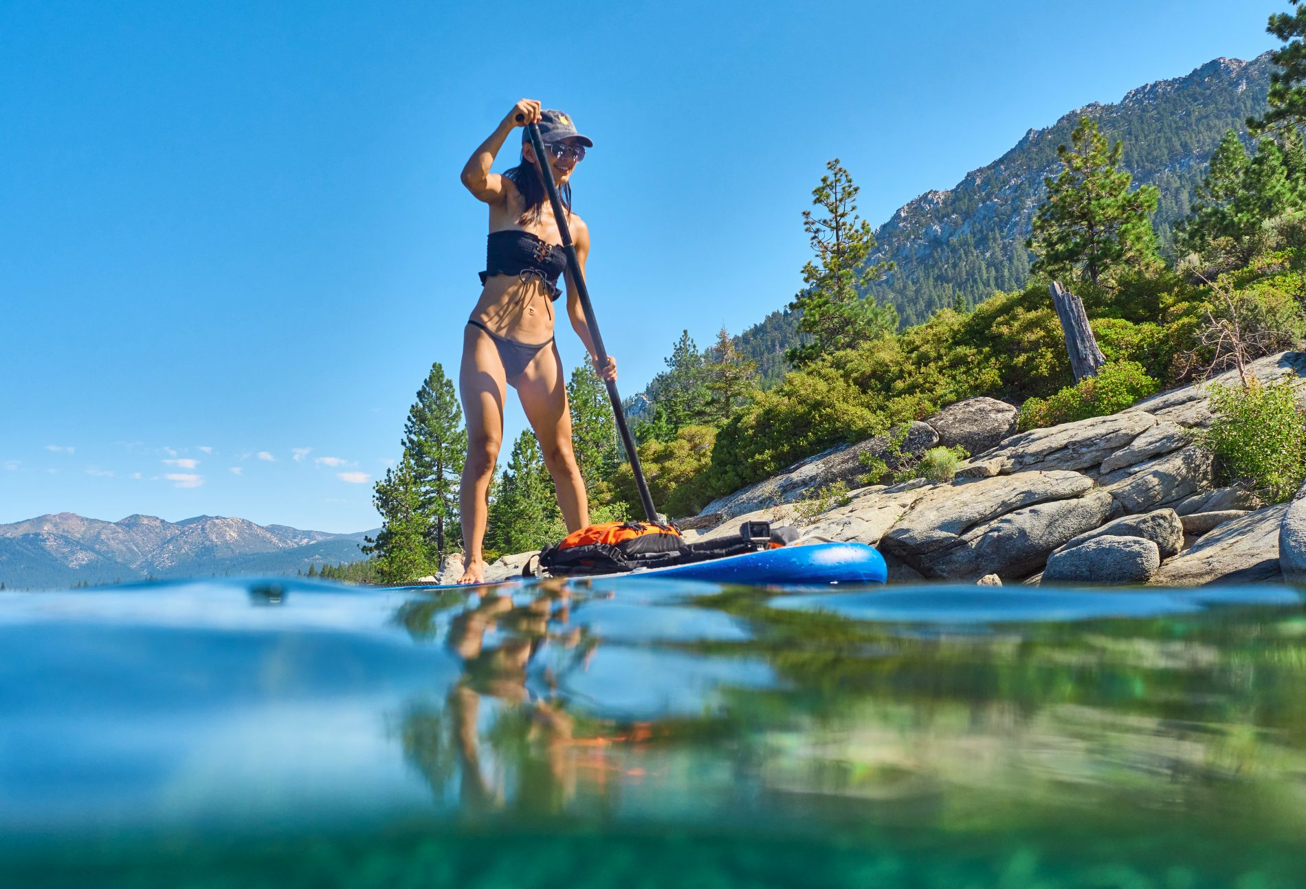 First-Time Lake Tahoe Paddleboarding Experience