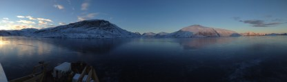 morning views during fjord mapping
