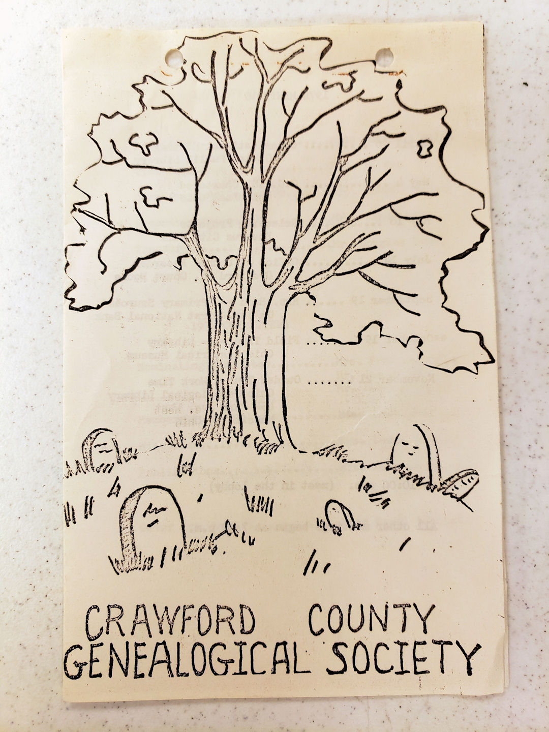 1974 Crawford County Genealogical Society Program