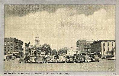 Washington Square Bucyrus Ohio in 1938