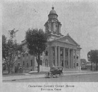 The Crawford County Courthouse as it looked in 1917