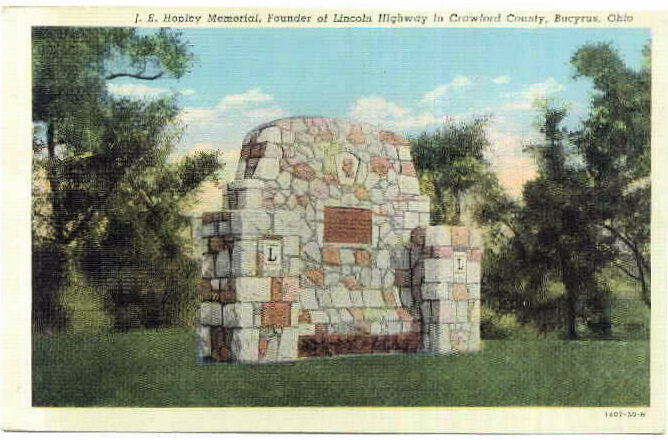 Memorial to Founder of Lincoln Highway in Crawford County Ohio