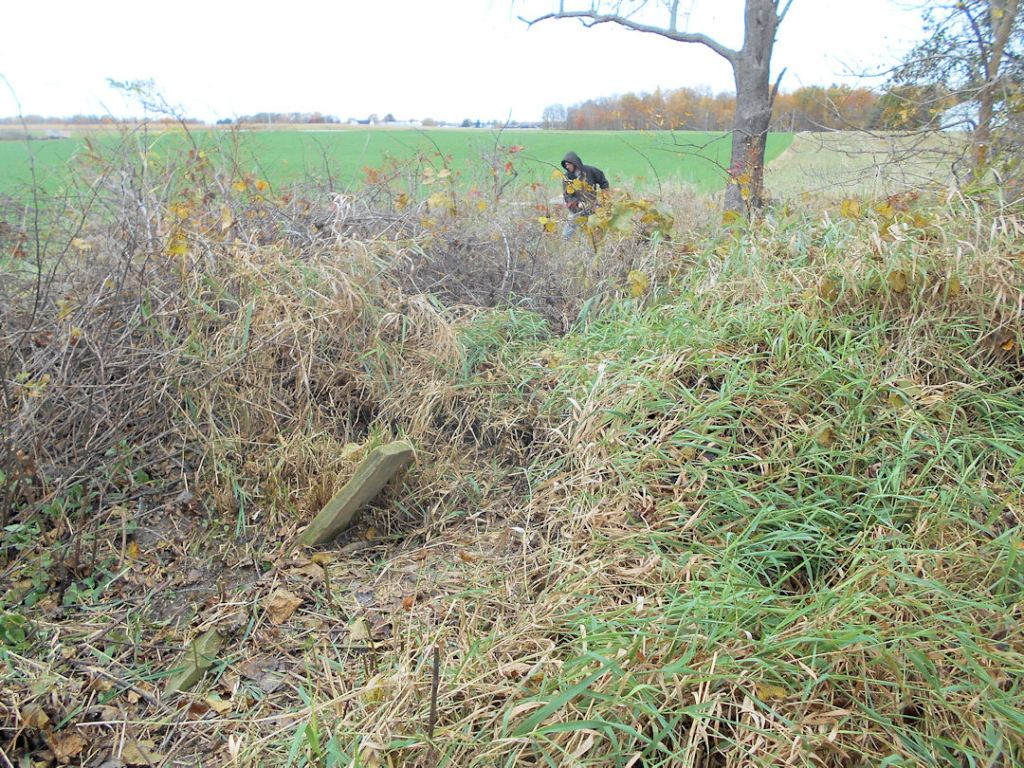 Conley Cemetery in Crawford County Ohio Clean up began on Saturday.