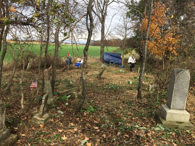 Conley Cemetery in Crawford County Ohio Clean up on Sunday