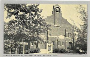 Evangelical Methodist Church in 1908 Bucyrus Ohio