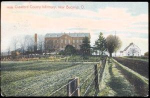 1909 view of Crawford County Ohio Infirmary