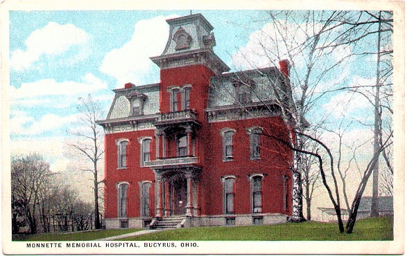 1919 - Another view of Monnette Memorial Hospital dated 1919.