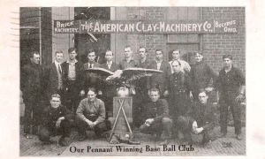 This is the American Clay Machinery Baseball Team. (contributed by Ken Striker)