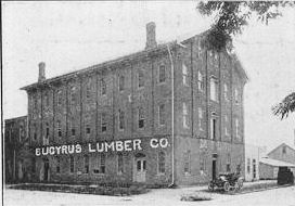 The Bucyrus Lumber Company as it looked between 1917-1922, located near the corner of Mary and Lane Streets.