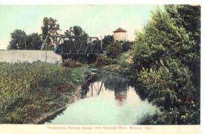 Railroad Bridge Over Sandusky River in 1908