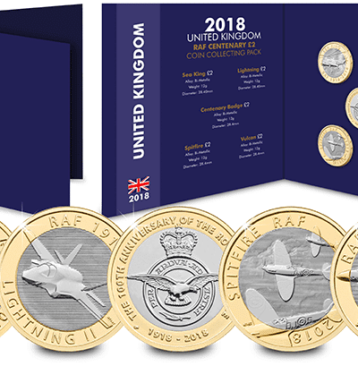 2018 RAF Centenary £2 Full Set in Album