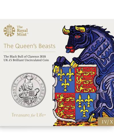 2018 Queen's Beast – Black Bull of Clarence £5 BU