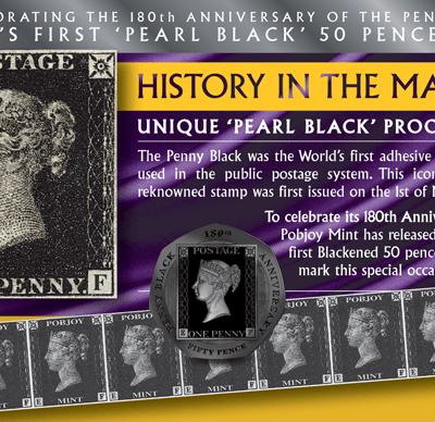 2020 Penny Black Stamp 50p BU