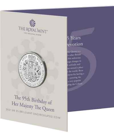2021 95th Birthday of Her Majesty the Queen £5 BU RM