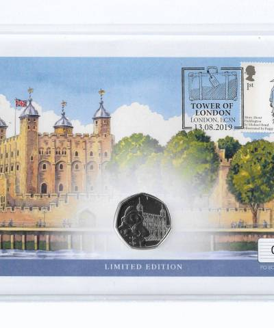 2019 Paddington at Tower of London UK Coin Cover