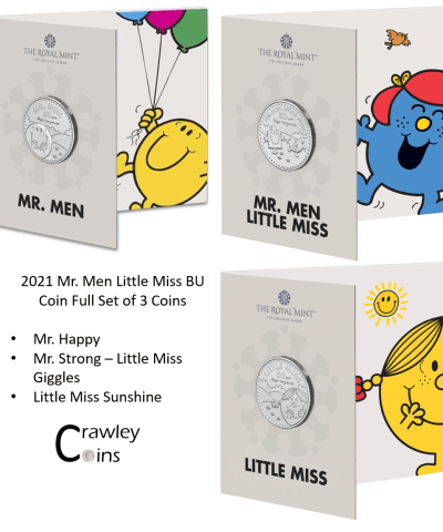 2021 Mr. Men and Little Miss Full Set BU £5