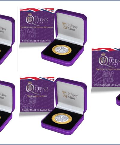 2021 Queen's Beasts £2 Silver Proof Set