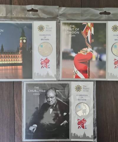2012 Celebration of Britain £5 BU Set
