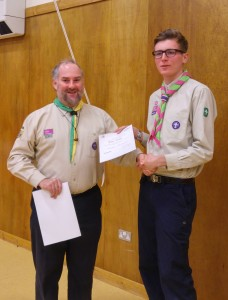 Jamie receives his D of E Gold Award