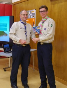 Jamie receives his Queen's Scout
