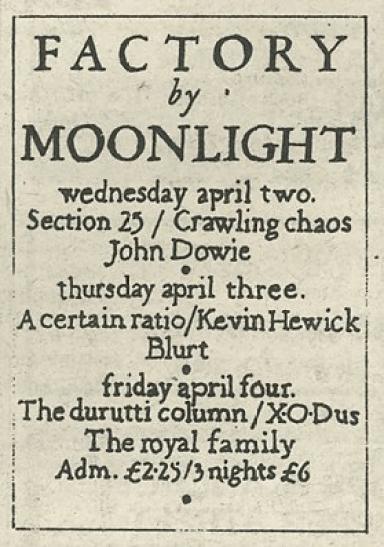 Moonlight Club Advert