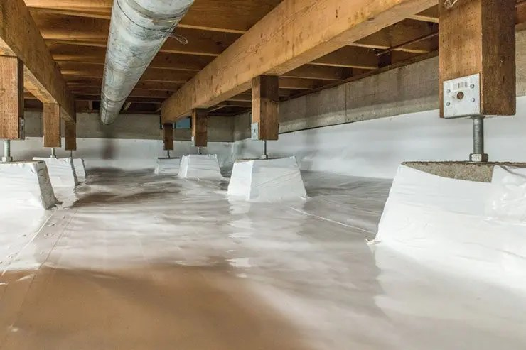 Crawl Space Waterproofing : Mitigate radon exposure through crawl space encapsulation