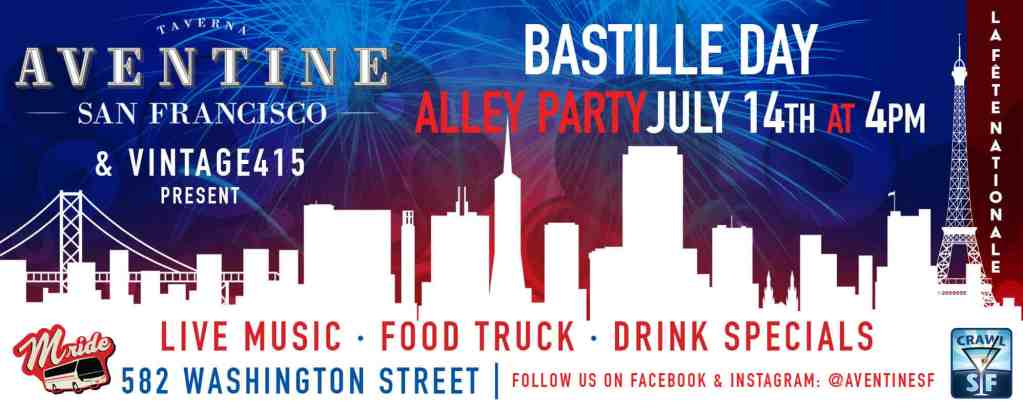 Bastille Day Alley Party at Aventine
