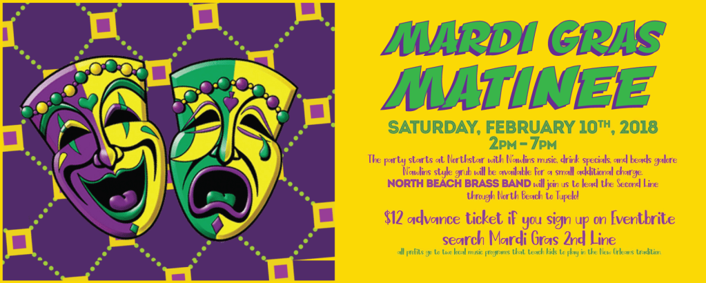 Mardi Gras 2nd line Parade March – Northstar to Tupelo