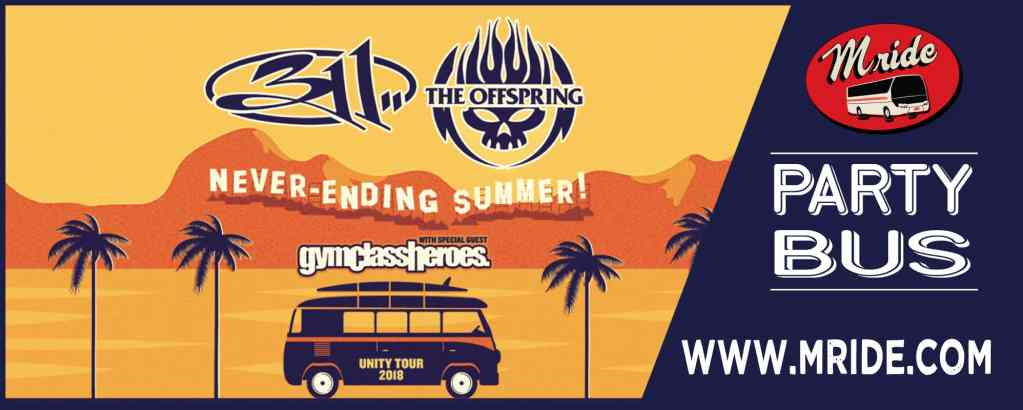 SF Party Bus: 311 & Offspring at Shoreline Amphitheater