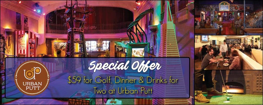 Eat, Drink and Play at Urban Putt Mini Golf