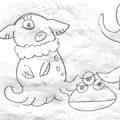 「おばけねこ宇宙へいく」キャラクター初期設定。