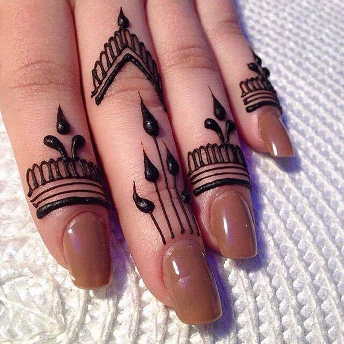 Latest Finger Mehndi Designs