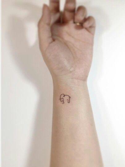 Cute Little Elephant Tattoo Tiny Elephant Tattoos Elephant