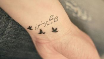 Bird On A Wire Tattoo Design Easy Bird Tattoos Easy Tattoos Crayon