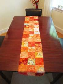 final pieced table runner