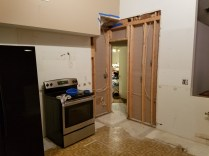 This used to be a large pantry that jutted out into the room.