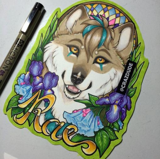 Rae for Ashthesilverwolf 1/4pg badge
