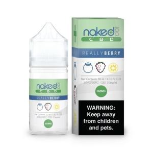 A bottle of Really Berry Naked 100 CBD Vape Juice