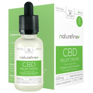 A bottle of Relief Drops CBD Tincture - Naturefine+