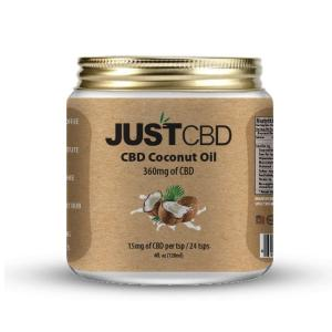 A pack of CBD Coconut Oil from Just CBD