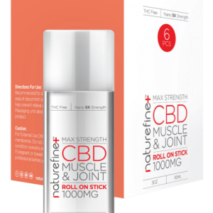 A pack of Joint and Muscle CBD Roll-On from Naturefine+