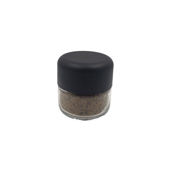A container of CBD Kief sold buy Craze Naturals