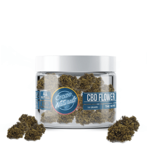 A container of The Wife CBD Flower from Craze Naturals
