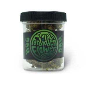 A container of Hog CBD Forbidden Flower by Urth CBD