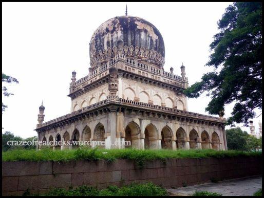 Cross view of Tomb of Abdullah Qutb Shah