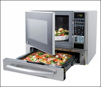 microwave pizza drawer