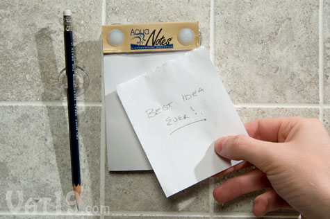 aquanotes shower notepad tear off AquaNotes Waterproof Notepad for Shower Note Taking