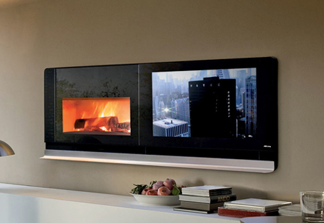 mcz fireplace tv scenario 2 Scenario Fireplace TV Solves the Television On Top of the Fireplace Problem